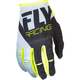 Youth White/Black/Hi-Vis Kinetic Gloves
