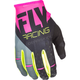 Youth Pink/Black/Gray Kinetic Gloves