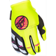 Youth Girl's Pink/White/Hi-Vis Kinetic Gloves