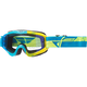 Youth Blue/Hi-Vis Zone Composite Goggles w/Blue Mirror/Smoke Lens - 37-4054