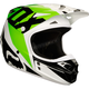 White/Black/Green V1 Race Helmet