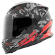 Red/Black Straight Savage SS1600 Helmet