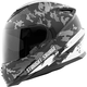 White/Black Straight Savage SS1600 Helmet