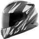 Silver/Black Cat Out'a Hell 2.0 SS1600 Helmet
