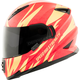 Gold/Red Cat Out'a Hell 2.0 SS1600 Helmet