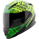 Green/Black Fast Forward SS1310 Helmet