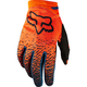 Youth Girls Gray/Orange Dirtpaw Gloves