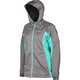 Women's Aqua/Gray Evolution Hoody