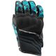 Women's Teal Cross My Heart Gloves