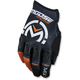 Black/Orange MX1 Gloves