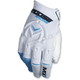 White/Blue MX1 Gloves