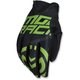 Black/Green MX2 Gloves