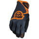 Black/Orange SX1 Gloves