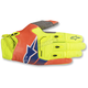 Yellow/Fl.Orange/Fl. Blue Techstar Gloves