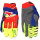 Blue/Red/Fl. Yellow Techstar Gloves