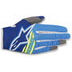 Blue/Aqua Blue/Yellow Radar Flight Gloves