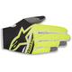 Black/Fl. Yellow Radar Flight Gloves
