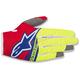 Red/Fl. Yellow/Blue Radar Flight Gloves