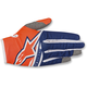 Fl. Orange/Dark Blue/White Radar Flight Gloves