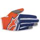 Fl. Orange/Dark Blue/White Radar Flight Gloves