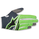 Youth Anthracite/Fluo. Green Radar Flight Gloves