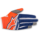 Youth Fluo. Orange/Dark Blue/White Radar Flight Gloves