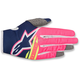 Youth Dark Blue/Fluo. Pink/White Radar Flight Gloves