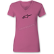 Women's Hot Pink Ageless V-Neck T-Shirt