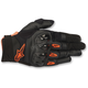Black/Orange Megawatt Hard Knuckle Gloves