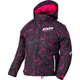 Youth Fuchsia Black Track/White Fresh Jacket