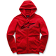Red Ageless Zip-Up Fleece Hoody