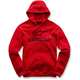 Red Always Pullover Fleece Hoody