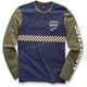 Navy Kickstart Knit Long Sleeve Shirt