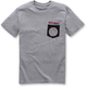 Gray Pocket Spiral T-Shirt