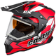 Red Mode Dual-Sport SV Team Snow Helmet w/Electric Shield