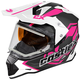 Pink Mode Dual-Sport SV Team Snow Helmet w/Electric Shield
