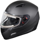 Matte Black Mugello Snow Helmet w/Electric Shield