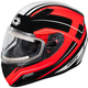 Red Mugello Maker Snow Helmet w/Electric Shield