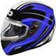 Blue Mugello Maker  Snow Helmet w/Electric Shield