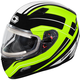 Hi-Vis Mugello Maker Snow Helmet w/Electric Shield