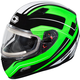 Green Mugello Maker Snow Helmet w/Electric Shield