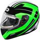 Green Mugello Maker Snow Helmet w/Electric Shield