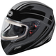 Black Mugello Maker Snow Helmet w/Electric Shield