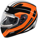 Flo Orange Mugello Maker Snow Helmet w/Electric Shield