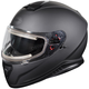 Matte Black Thunder 3 SV Snow Helmet w/Electric Shield