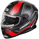 Matte Red Thunder 3 SV Trace Snow Helmet w/Electric Shield