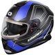 Matte Blue Thunder 3 SV Trace Snow Helmet w/Electric Shield
