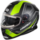 Matte Hi-Vis Thunder 3 SV Trace Snow Helmet w/Electric Shield