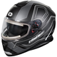 Matte Black Thunder 3 SV Trace Snow Helmet w/Electric Shield