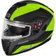 Matte Hi-Vis Atom SV Tarmac  Modular Snow Helmet w/Electric Shield